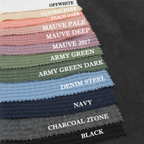 12 Colors Solid Color Waffle Brush Poly Rayon Spandex Knit Fabric