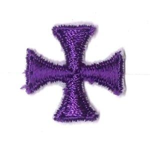 Cuadrado-Maltes-Cruz-Bordado-1-034-para-Coser-Violeta-B-Parche-de-Adorno-12-Piezas