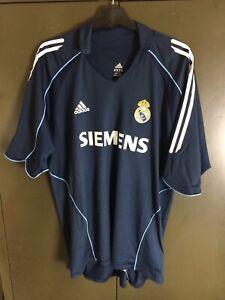 fdbc2a114 Real Madrid 2005-06 Zidane 6 Adidas Away Football Shirt Size Large ...