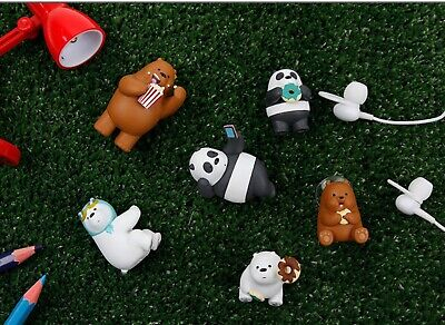 We Bare Bears Mobile Phone Panda Mini Figure Standing Desk Interior