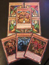 YUGIOH TCG: EXODIA + EGYPTIAN GOD CARDS: OBELISK SLIFER RA - 8-CARD SET - LDK2
