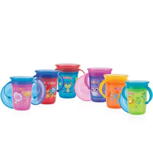 """Nuby ID10410 360° """"WONDER CUP"""" 240ml m. Henkel - 6M+ farblich sortiert"""