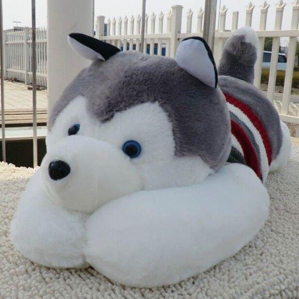 20  Husky Siberian Plush soft Toy Stuffed Animal Doll Pillow Figure kid Gift UK