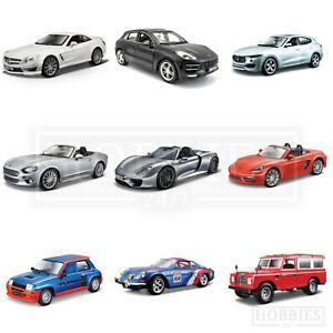 Bburago-1-24-Scale-Diecast-Model-Cars-Porsche-Maserati-Alfa-Renault-Land-Rover