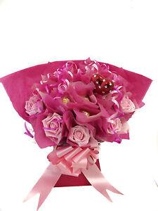 Valentines Day Ferrero Rocher Flower Chocolate Bouquet In Pinks
