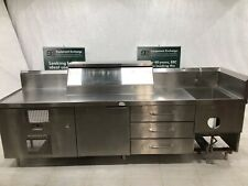 Stainless Steel Food Prep Counter With Refrigerated Cabinet Sink 10 Long