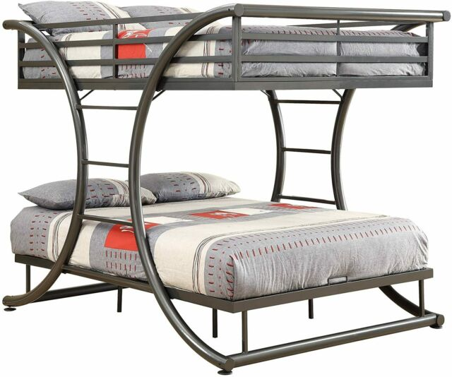 Coaster Contemporary Bunk Bed With Dark Gunmetal Finish 460078 For Sale Online Ebay