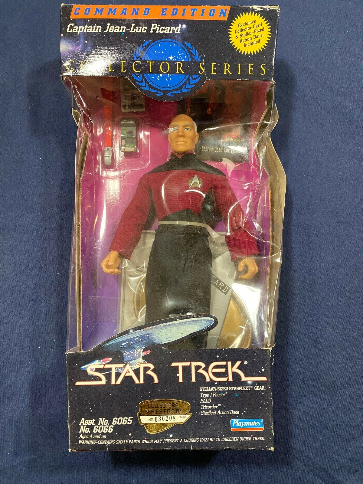 mint in box Playmates 1997 Star Trek Latinum Edition Captain Jean Luc Picard