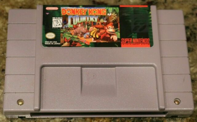 Donkey Kong Country cart only snes works tested clean super Nintendo classic