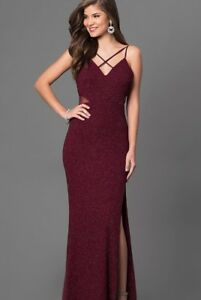 "Burgundy ""prom girl"" prom dress good"
