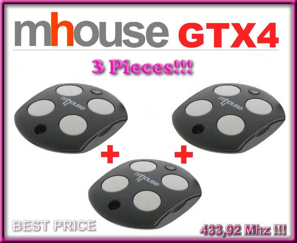 3 X Mhouse GTX4 remote controls. The new version of Mhouse TX4   3 pices