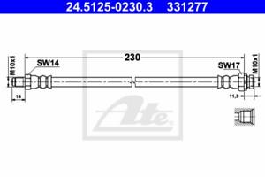 Bremsschlauch für Bremsanlage Hinterachse ATE 24.5125-0230.3
