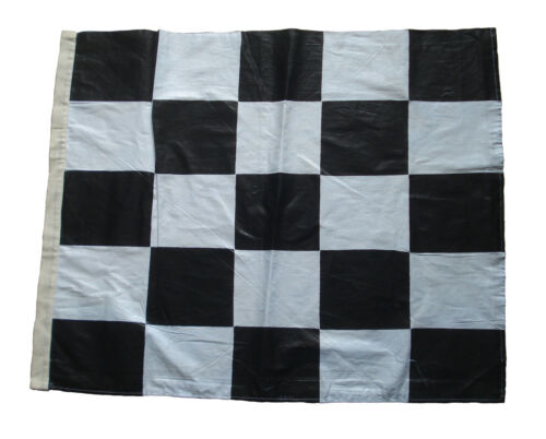 "Nascar Flag Black and White The Checkered Flag 2 pcs 100/% COTTON 27/"" X 35/"""