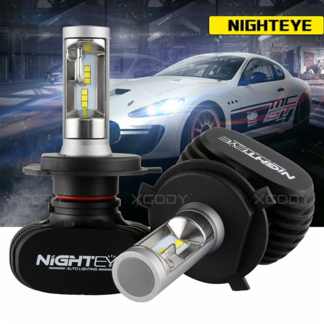Nighteye H4 9003 HB2 8000 LM Voiture DEL Phare Kit Ampoule Hi/Lo Beam 6500K Blanc