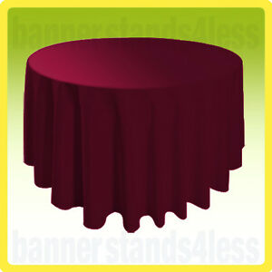 "70"" Inch Round Table Cover Wedding Banquet Event Tablecloth - BURGUNDY RED"