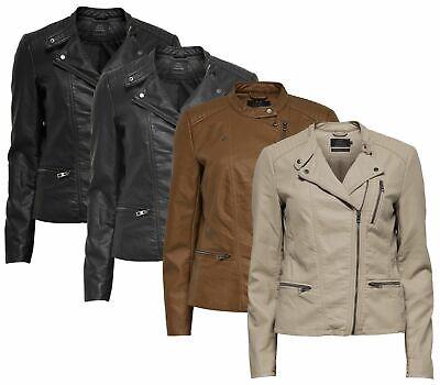 ONLY Womens Onlfreya Faux Leather Biker OTW Noos Jacket
