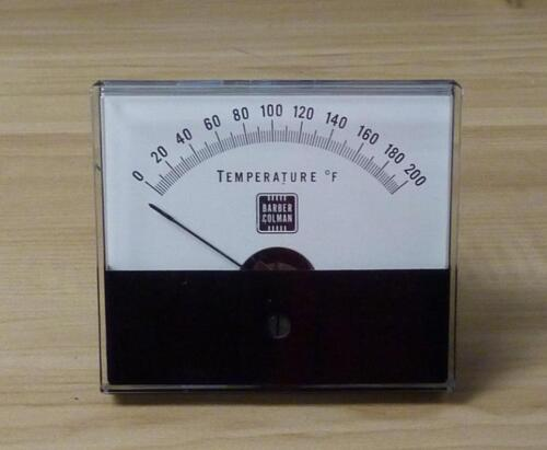 Barber Colman / Honeywell 0-200 F Temperature Indicating Meter Gauge ASP-562