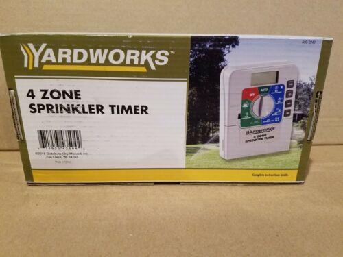 Yardworks 4 zone SPRINKLER TIMER with battery back-up NEW!