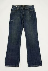 Only-beat-jeans-uomo-usato-W30-L32-tg-44-relaxed-boyfriend-destroyed-denim-T518