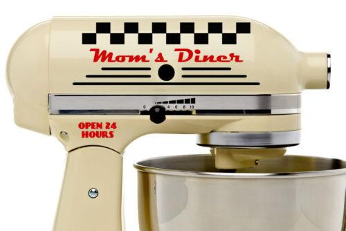 Moms Diner Decal Set Kitchenaid Stand Mixer Kitchenette Kitchen Retro Style