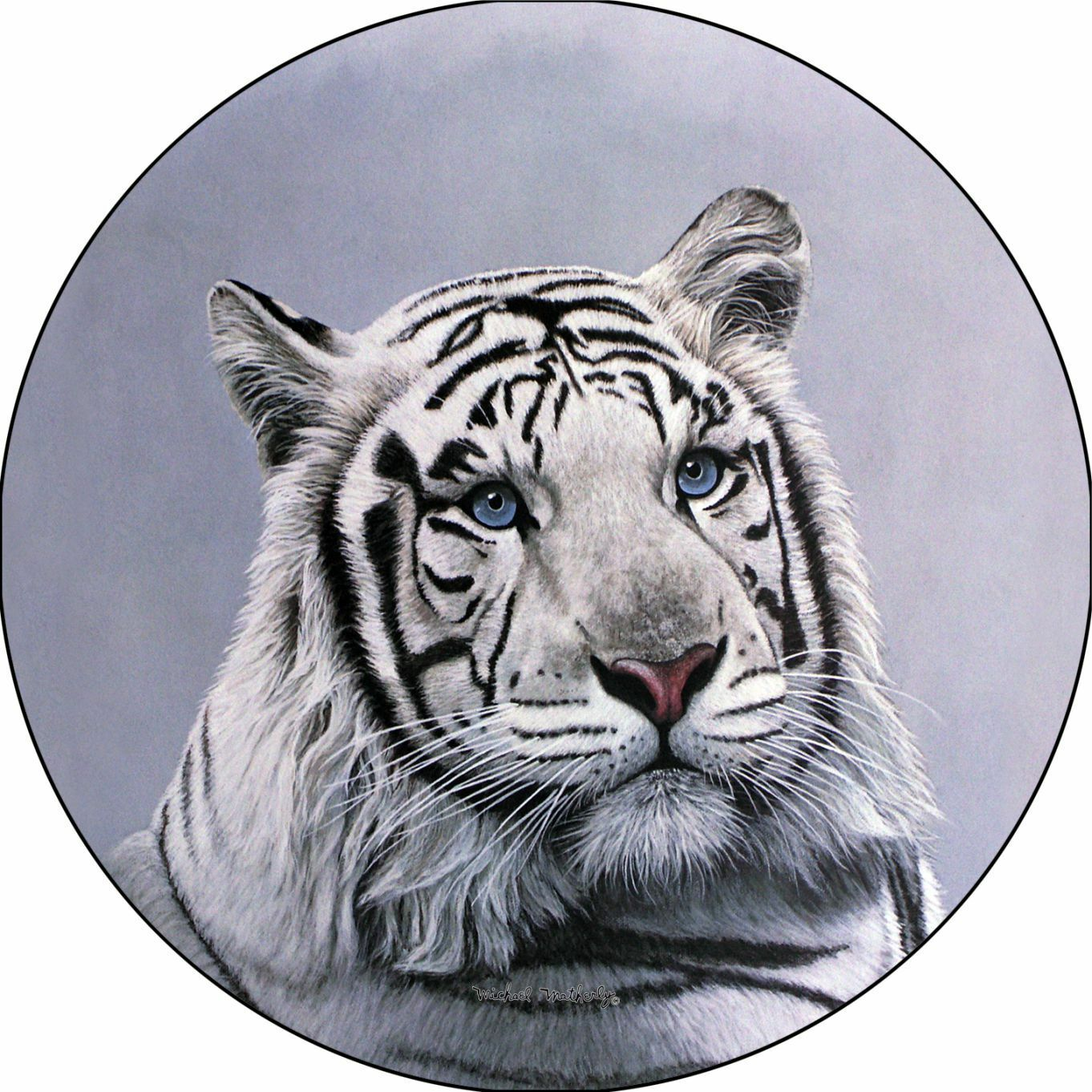 White Bengal Tiger Spare Tire Cover Jeep RV Camper VW Trailer (all sizes)