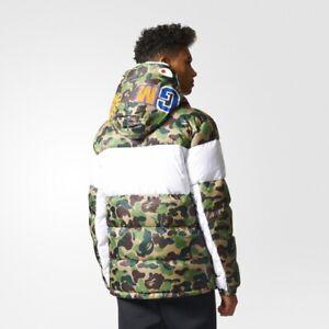 33671d425656 Adidas Winter Mens ID96 Down Bape Jacket BK4568 Camo Shark WGM ...