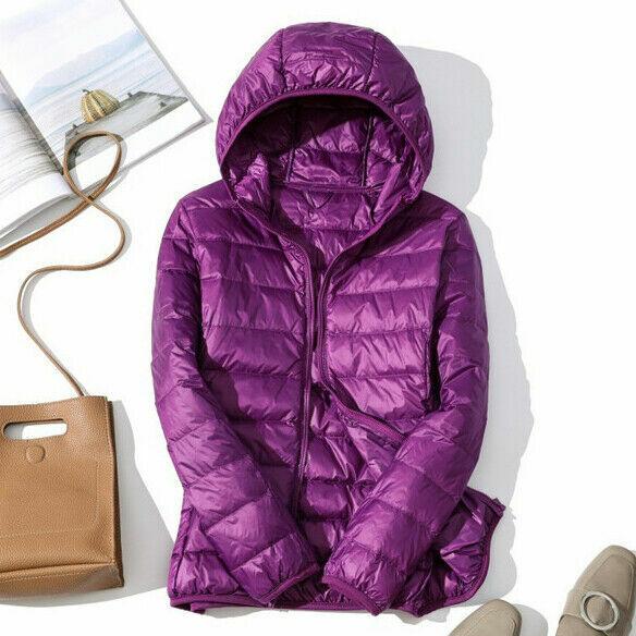 Women/'s Down Jacket Ultralight Stand Collar Coat Winter Hoodie