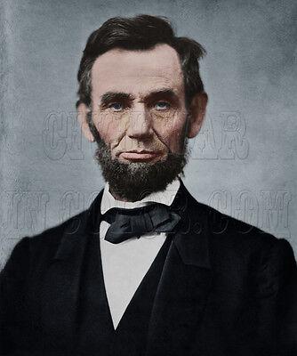 President Abraham Lincoln color tinted Civil War Photo Print 19301