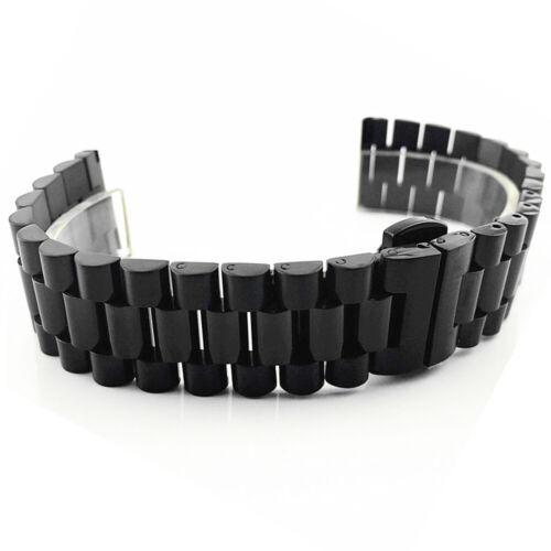 Curve in acciaio inox bracciale di ricambio chiusura Orologi Bracciale Strap Solid orologi a sinistra