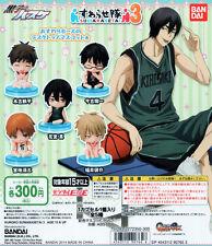 Kuroko's Basketball Suwarasetai 3 Gashapon Teppei Makoto Shoichi Set of 5pcs