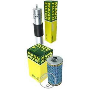 Mann-Filter-paquete-filtro-aceite-filtro-de-combustible-para-bmw-8er-e31-840i-e34-530i-540i
