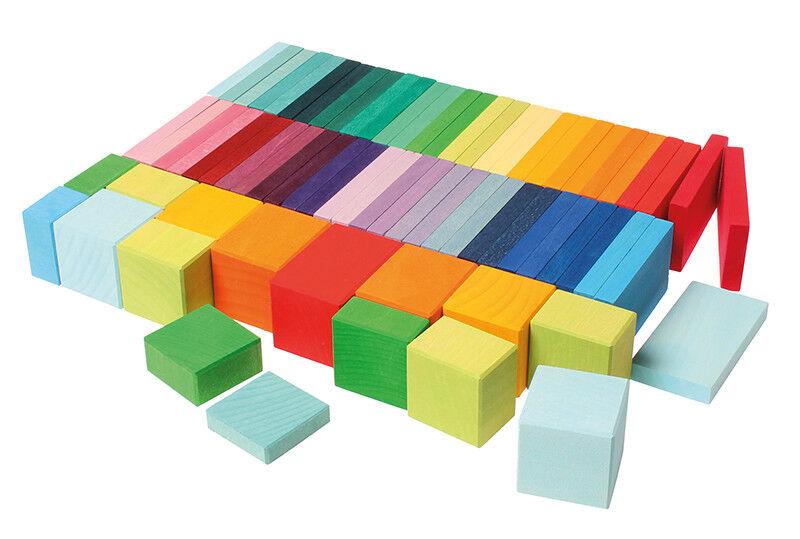 Farbenspiel Grimm's Farbtafel Holzklötze Bauklötze Holzspielzeug NEU