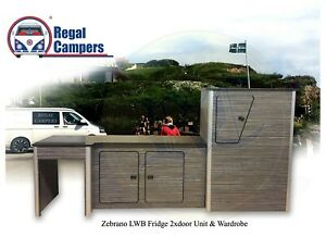 Details about LWB Master Motorhome Camper Van Conversion ZEBRANO Ply Fridge  Kitchen Unit DIY