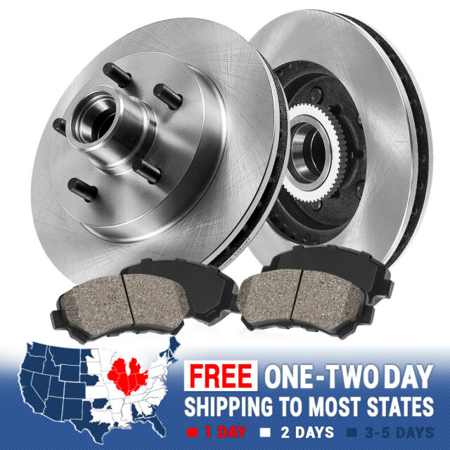 Front Brake Rotors and Metallic Pads For 2WD FORD EXPLORER RANGER MOUNTAINEER