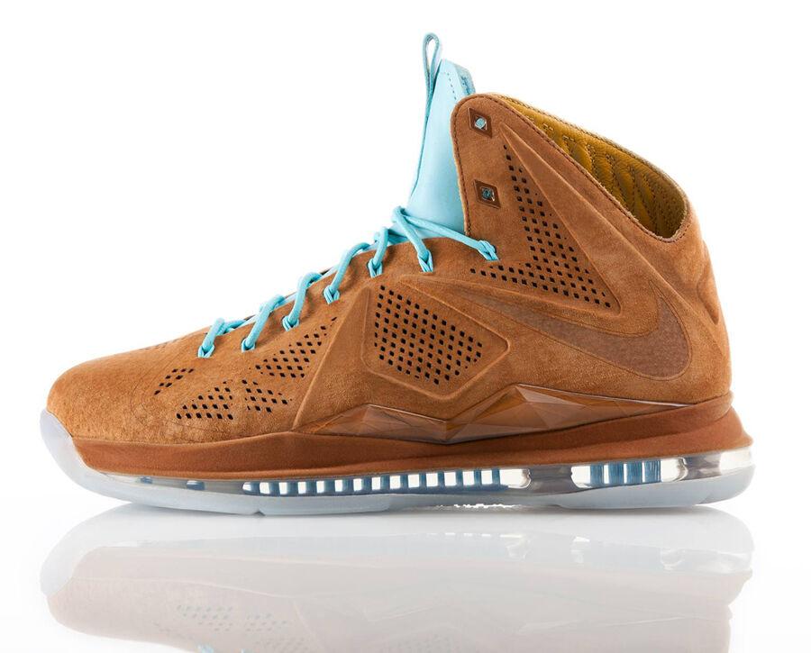 Nike Lebron X EXT QS Suede Hazelnut - Denim Cork Christmas All Star 11 XI size 9