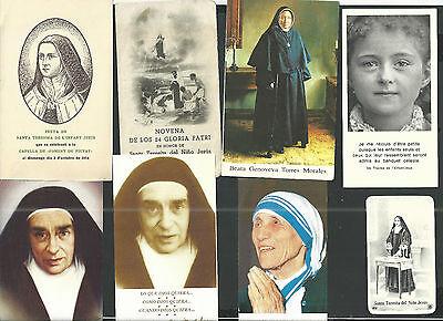 8 Estampas De Monjas Santas Andachtsbild Santino Holy Card Monja Descuento En Linea