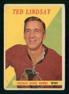 TED-LINDSAY-1958-59-TOPPS-58-59-NO-63-LOW-GRADE-35946