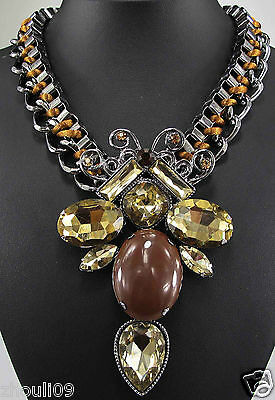 New Design Lady Bib Statement inspiration pendant crystal necklace collar