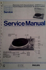 Service Manual Philips Hi-Fi Record Player 22af677