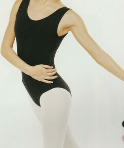 Eurotard-Tank-Ladies-Ballet-Dance-Microfiber-Black-Fully-Front-Lined-New-w-tags