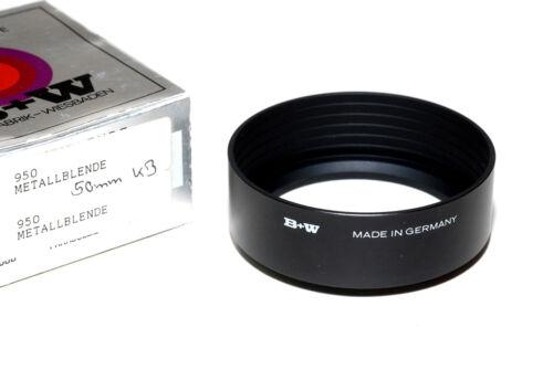 B nuevo//en el embalaje original W Germany 950 metal parasol para 55mm rosca para filtros negro