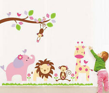 869   Wall Stickers Baby Cartoon Animal Kingdom Kids Room