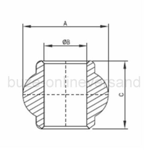 Oberlenkerkugel Kugel für Fanghaken 50 mm auf 19 mm Kat 2 auf 1 Oberlenker Neu