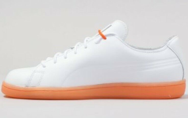 PUMA X DAILY PAPER MATCH RAW EDGE WHITE   VIBRANT orange HARD TO FIND 362823-01