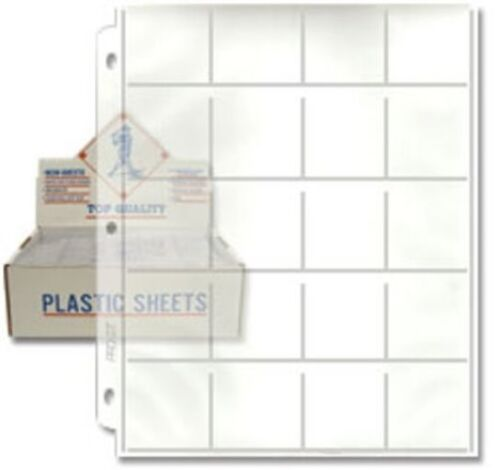 Lot of 20 2x2 20 Pocket Pages for Coin Holders or Slides