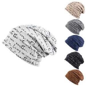 Mens-Womens-Thin-Skull-Beanie-Hat-Winter-Warm-Baggy-Knit-Slouchy-Ski-Cap-New-Tre