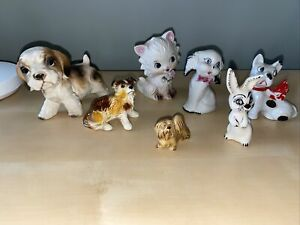 Lot-of-7-Vintage-Porcelain-Ceramic-Small-Assorted-Lot-Of-Animal-Figurines-Japan