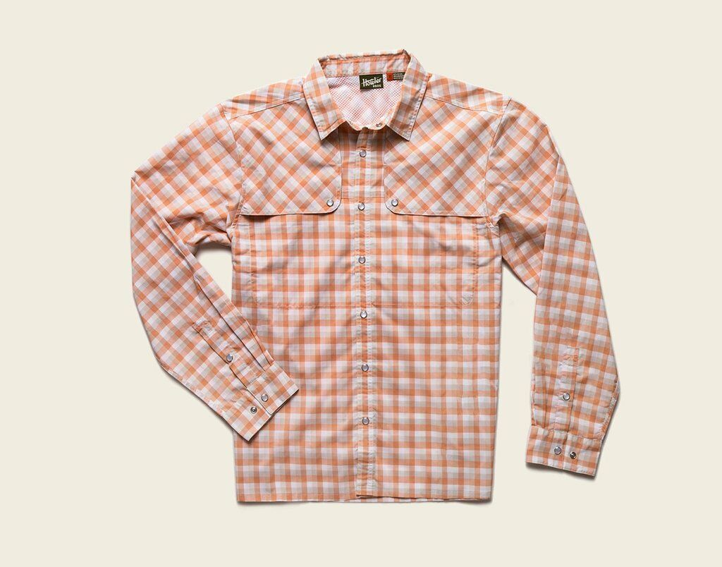 Howler Bredhers PESCADOR  Shirt  Tyson Plaid Fuzzy Navel NEW  Small  CLOSEOUT  authentic quality