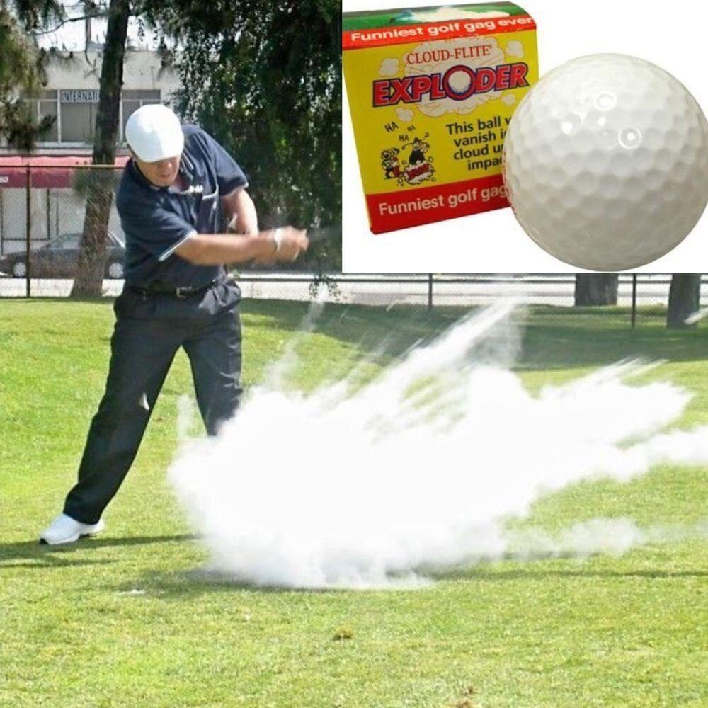 (2) Exploding Golf Balls ~ Explodes into Cloud Smoke ~  Gag Prank Joke Trick