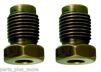 Male Tube Nut Bubble Flare Fitting 2PC Kit Edelmann 276110 M10 x 1.0 x 3/16 Tube